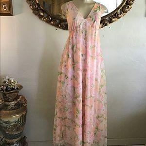 Vintage Blush Pink Slip Dress